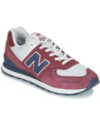 Ml574 Women's Shoes (trainers) In Red