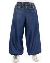 Fantazia Jeans Pantalon large bouffant denim Mayurah - Bleu