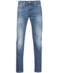 Replay Straight Jeans Grover - Blauw