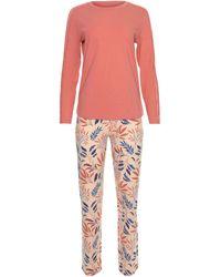 Lisca Pyjama's / Nachthemden Pyjama Broek Top Lange Mouwen Mellow Cheek - Oranje