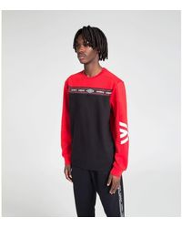 Umbro Sweat-shirt Pull A Col Rond Authentic - Rouge