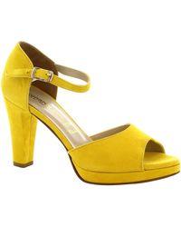 Leonardo Shoes Sandalen 111 Camoscio Giallo - Geel