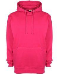 Fleur du Mal Unisex Plain Original Hooded Sweatshirt / Hoodie (300 Gsm) Women's Sweatshirt In Other - Pink