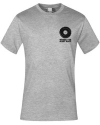 "Promodoro Print "" heart beats"" T-shirt premium Hommes T-shirt - Gris"