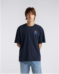 Edwin 45121MC000131 MT FUJI TS T-shirt - Bleu