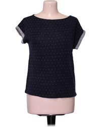 S.oliver Top manches courtes - Taille 34 Blouses - Bleu