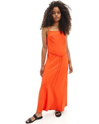 Calvin Klein K20K201839 Robe - Orange