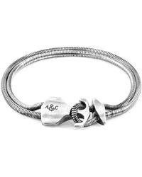 Anchor & Crew Anchor Crew Bracelet Ancre Delta Mooring Chaîne Argenté Bracelets - Métallisé