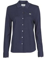 Lacoste Polo Shirt Lange Mouw Pf5460 - Blauw