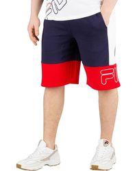 9e56d1dd6e2f2 Fila - Vintage Men's Reiley Colour Block Shorts, Blue Men's Shorts In Blue  - Lyst
