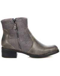 Big Star - V274259 Women's Low Ankle Boots In Grey - Lyst