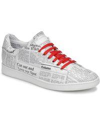John Galliano 8507 hommes Chaussures en blanc