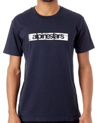 Alpinestars Navy Kenny T-shirt T Shirt - Black