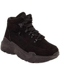 Primtex Baskets montantes Baskets montantes noir shoes en simili daim suédine