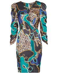 Marciano Korte Jurk Foulard Short Dress - Blauw
