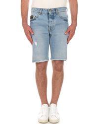 Versace Jeans Couture A4GWA17IAOK5Z Bermudes Homme Denim Short - Bleu