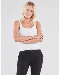 Guess Top Annis Tie Top - Bianco