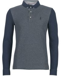 Vicomte A. Polo Shirt Lange Mouw Portishead Tri Polo - Grijs