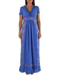 Met Wo Dress In Blue Long Dress