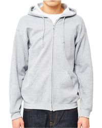 The Idle Man - Classic Zip Through Hoodie Grey Men's Jumper In Grey - Lyst