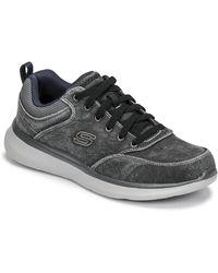 Skechers Lage Sneakers Delson 2.0 Kemper - Zwart