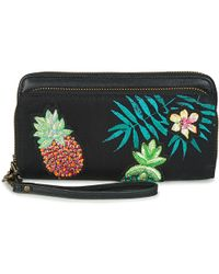 Desigual - Mone_pinday Two Levels Women's Purse Wallet In Black - Lyst