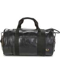 Fred Perry Borsa Da Sport Tonal Barrel Bag - Nero