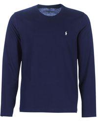 Polo Ralph Lauren T-shirt Lange Mouw L/s Crew-crew-sleep Top - Blauw