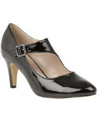 Lotus - Black Patent 'laurana' High Stiletto Heel Court Shoes - Lyst