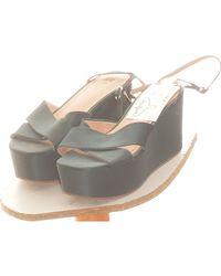 H&M Paire D'escarpins 38 Chaussures escarpins - Vert