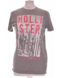 Hollister T-shirt Manches Courtes 36 - T1 - S T-shirt - Gris