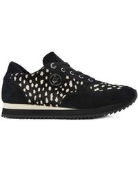 Armani - Trainer Black Women's Shoes (trainers) In White - Lyst