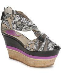 Etro - 3467 Women's Sandals In Grey - Lyst