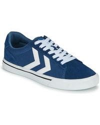 Hummel Lage Sneakers Nile Canvas Low - Blauw