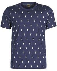 Polo Ralph Lauren T-shirt Korte Mouw Cruise All Over - Blauw