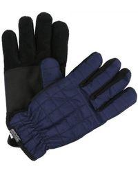 Regatta S Quilted Polyester Winter Warm Walking Hiking Gloves - Blue