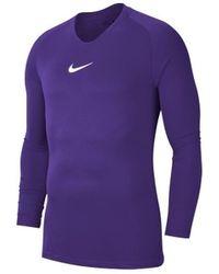 Nike Camiseta manga larga Dry Park First Layer - Morado