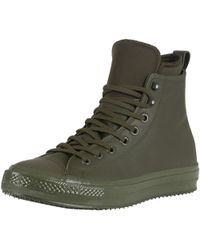 Converse - Men's Ct All Star Hi Wp Leather Boots, Green Men's Mid Boots In Green - Lyst