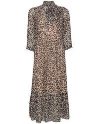 Dorothy Perkins Robe Robe longue à imprimé léopard - Marron