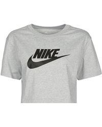 Nike Camiseta NSTEE ESSNTL CRP ICN FTR - Gris