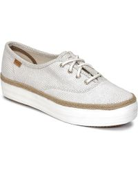 Keds - Triple Dalmata Dot Leather Women's Shoes (trainers) In Beige - Lyst