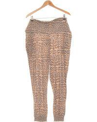H&M Pantalon Droit Femme 40 - T3 - L Pantalon - Marron