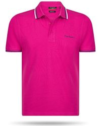 Pierre Cardin Tipped Polo Polo Shirt - Pink