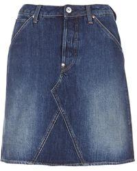 G-Star RAW 5622 Custom A-Line Skirt Gonna - Blu
