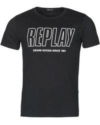 Replay T-shirt Korte Mouw - Noir
