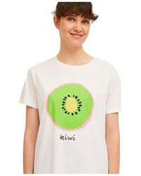 Compañía Fantástica Camiseta De Algodon Estampado De Kiwis de - Blanco