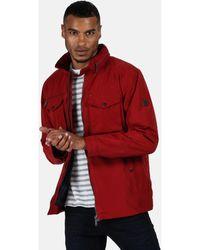 Regatta Haldor Waterproof Jacket With Concealed Hood Red Coat