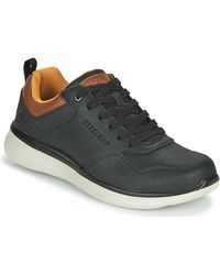 Skechers Lage Sneakers Delson 2.0 Planton - Zwart