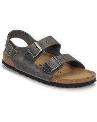 Birkenstock Sandalen Milano Leather - Grijs