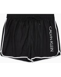 Calvin Klein Maillots de bain KM0KM0389 SHORT RUNNER - Noir